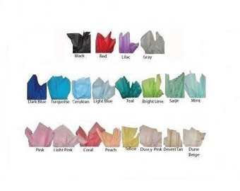 Tissue Paper Samples / Tissue Paper Swatches