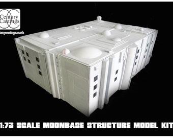 Space1999 moonbase alpha 1:72 scale building model kit retro science fiction