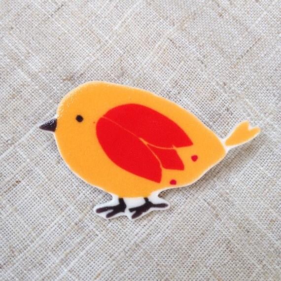 Oiseau jaune oiseau broche amant doiseau broches broche for Oiseau jaune france