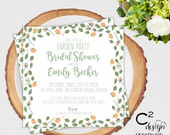 Garden Party Shower Invitation