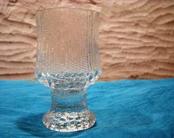 Iittala Ultima Thule Red Wine Glass – Design Tapio Wirkkala – Vintage 1960s Mid Century Scandinavian Home Décor Finland – Modernist Barware
