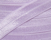 Fresco Purple Fold Over Elastic By the Metre