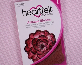"""Heartfelt Creations Cling Rubber Stamp Set ~ 3.75"""" x 4"""" Arianna Blooms, HCPC 3608 ~"""