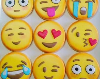 Emoji cookies 1 dozen