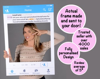 Large/Medium personalised Twitter photo booth prop frame! Perfect for Weddings, Birthdays, Business Exhibitions and any other event!