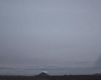Iceland, Scandinavian, Nordic, Landscape, Photograph, Reflection, Home decor, Wall art, Home, Minimal, Print, Photo, Art, Mountain, Volcano