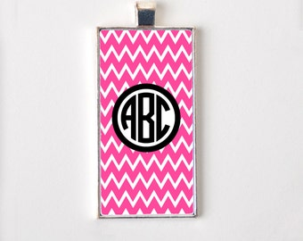 Monogram Pendant Necklace - Chevron Pendant Jewelry
