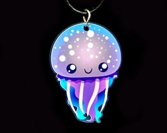 Jellyfish Acrylic Necklace