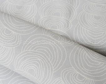 CANVAS Ripple Gray, Rain Walk, Cloud 9 Fabrics, Certified Organic Cotton Canvas