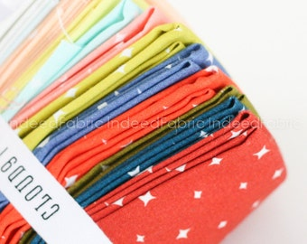 FAT QUARTER Bundle- We Are All Stars, Organic Fabric- Cloud 9 Fabrics, Certified Organic Cotton, Twelve Prints