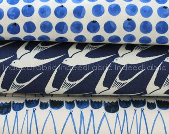 Bluebird Fat Quarter Bundle- Cotton + Steel, Quilting Weight Cotton Fabric