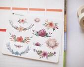 Floral arrangement - decorative flower watercolour planner stickers suitable for any planner -114-