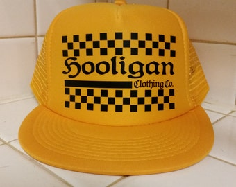 Hooligan Check Triple Gold Trucker Hat