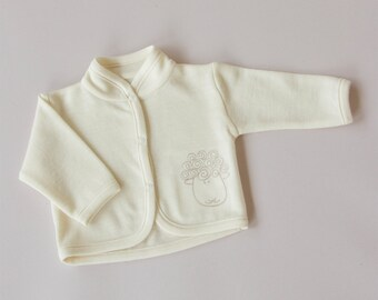 Xmas SALE!!! Merino wool baby jacket/newborn baby woolen jacket