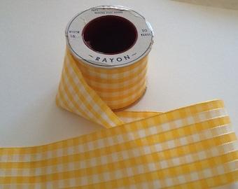 Vintage plaid taffeta ribbon