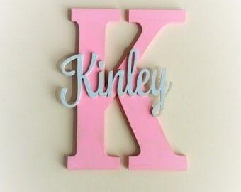 Nursery decor, Nursery wall decro, Nursery letters, Nursery wall hanging letters, Pink & Gray nursery decor, nursery wall letters