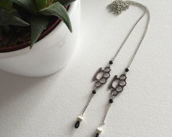 Knuckle rings // Eyeglass leash // Black beads
