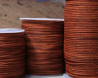 1.5mm dyed light red brown premium leather-10meters