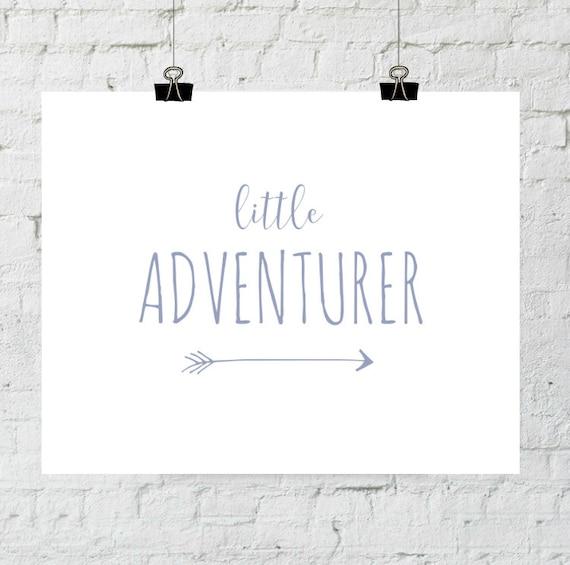 Adventure Print, Nursery Decor, Little Adventurer, Purple Modern Nursery Wall Art, Playroom Decor, Instant Download, ADOPTION FUNDRAISER