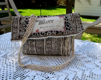 Wild Beauty Handbag for the Gypsy, Boho, or Country Girl