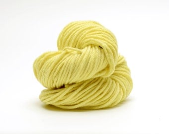 100% Certified Organic Merino Wool, Naturally Dyed with Weld, Bulky Weight