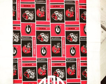 UGA Burp Cloth, uga bulldogs, burp cloth, UGA monogram burp cloth, uga baby gift, University of GA gift, university of Georgia Burp Cloth