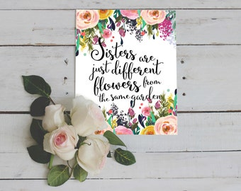 Items Similar To Wall Art Sisters Are Different Flowers From The Same Garden On Etsy