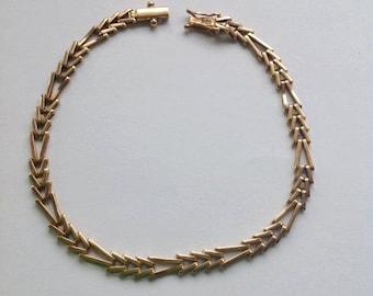 vintage 18K Gold bracelet, bracelet, gold bracelet, yellow gold bracelet, for her