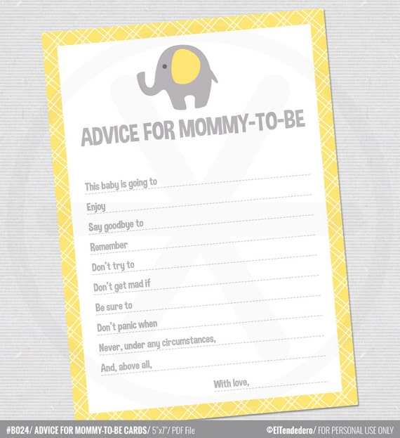 Crafty image regarding mommy advice cards printable