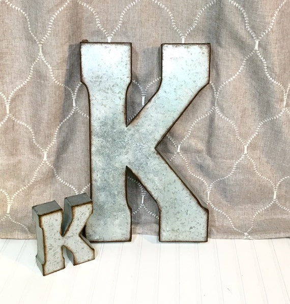Large Metal Letters For Wall Metal Letters Letter K Galvanized Metal Wall Letter Large Letter
