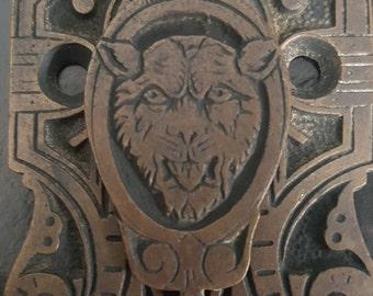 Lion Decorative Entry Back Plate 530846
