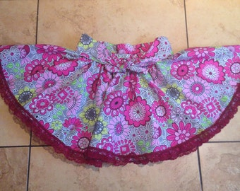 Girl's Skirt, Twirly Skirt, Circle Skirt, Girls Circle Skirt, Toddler Girls Twirl Skirt, Girls Skirt, Floral Cotton skirt,  4T Skirt, Cute