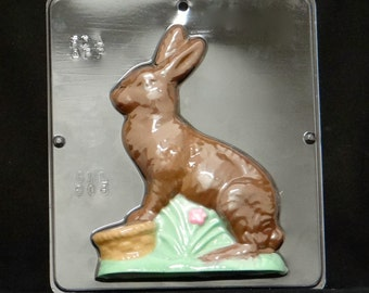 """7 1/4"""" Easter Bunny Facing Left Chocolate Candy Mold Easter 806"""