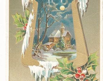 """Beautiful Vintage 1912  """"Greetings of Christmas """" Embossed Postcard"""