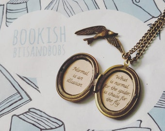 Customised Quote Locket with Charm