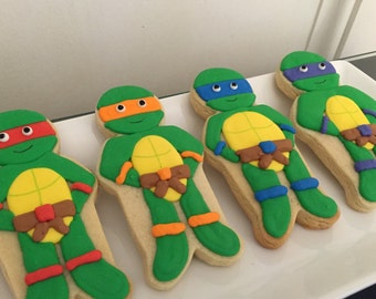 Turtle Themed Cookies