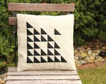 Pillow black triangle