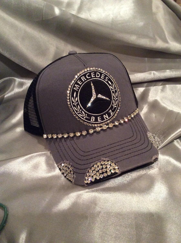 bling trucker hats mercedes benz hats mercedez car. Black Bedroom Furniture Sets. Home Design Ideas