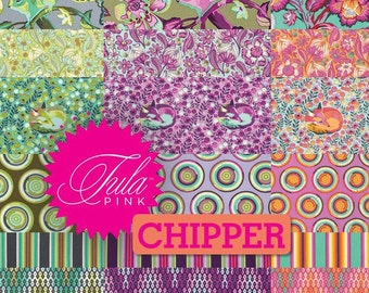 Chipper by Tula Pink for Free Spirit ~ Fat Quarter / Half Yard Fabric BUNDLE ~ COMPLETE or Choose Palette: Raspberry, Mint, Sorbet