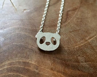 Panda - a cute necklace with a little panda. Silvertone, cute, animal, panda, pandabear, little, tiny