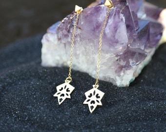 Threader Earring, Morrocan Tile Earrings, Double Side Earrings, Festival Jewelry, Gypsy Style