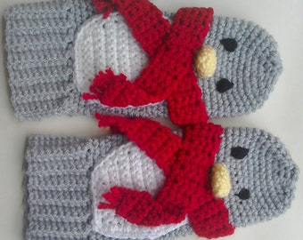 Women's Penguin Mittens