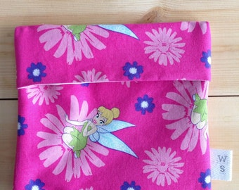 Pink fairy reusable sandwich bag