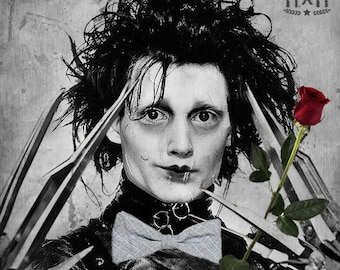 "Edward Scissorhands ""Lookin' Sharp!"" Poster Print 12x12 inches"