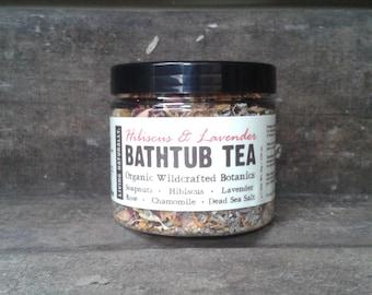 Hibiscus Organic Botanical Bathtub Tea