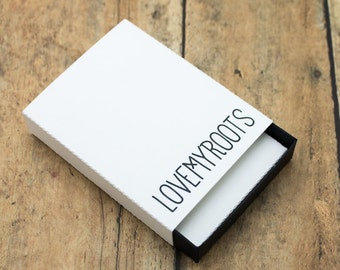 15 Earring Gift Boxes, Matchbox Style, includes earring card, Blank or Custom, Custom Earring Box