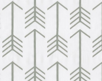 White and Gray Arrow Fabric - By The Yard - Boy / Girl / Gender Neutral