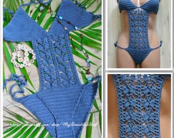Crochet Monokini Pattern  Crochet Bikini Pattern Crochet Swimsuit OnePiece Bikini Crochet Lace Bikini Plus Size Swimsuit Beach Swimwear