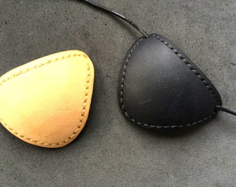 Handmade and decorated Leather Eyepatch