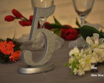 Wedding Table Numbers, SET 1/30, Elegant Wedding Table Numbers, Gold Table Numbers, Silver Table Numbers